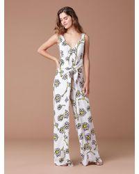 d1b937aa08280 Diane von Furstenberg - Marrah Front Tie Jumpsuit - Lyst
