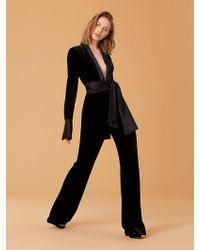 Diane von Furstenberg - Velvet Sash Jumpsuit - Lyst