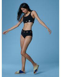 Diane von Furstenberg - Grommet Cheeky Mid-rise Bikini Bottom - Lyst