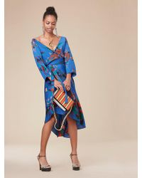 Diane von Furstenberg - Eloise Asymmetric Mini Dress - Lyst