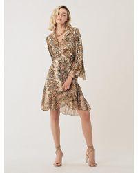 012f4fbb84 Diane von Furstenberg - Carli Ruffled Silk-jersey Wrap Dress - Lyst
