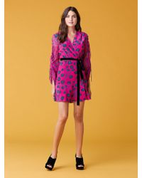 Diane von Furstenberg - Tamra Shocking Pink Dress - Lyst