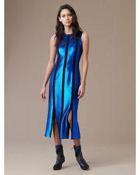 Diane von Furstenberg - Sleeveless Tailored Paneled Dress - Lyst