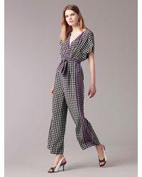 Diane von Furstenberg | Short-sleeve Wrap Jumpsuit | Lyst