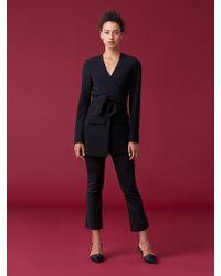 Diane von Furstenberg - Cali Front Tie Jacket - Lyst