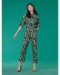 Diane von Furstenberg - Short-sleeve Pocket Jumpsuit - Lyst