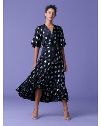 Diane von Furstenberg - Sareth Dot Wrap Dress - Lyst
