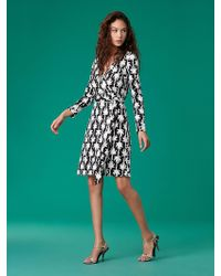 93df514038b51 Diane von Furstenberg - New Jeanne Two Silk Jersey Wrap Dress - Lyst
