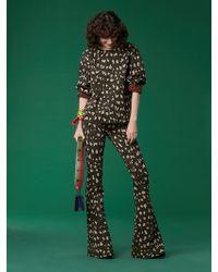 Diane von Furstenberg - Long Sleeve Jacquard Sweatshirt - Lyst