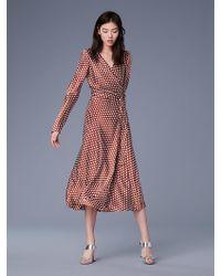 Diane von Furstenberg - The Dvf Tilly Satin Dress - Lyst