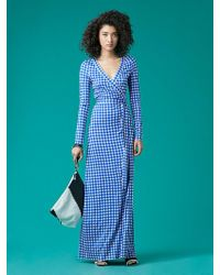 Diane von Furstenberg - New Julian Long Banded Silk Jersey Wrap Dress - Lyst