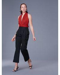 Diane von Furstenberg - Sleeveless Deep V Wrap Bodysuit - Lyst