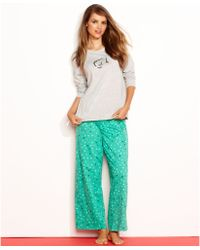 Hue Knit Sequin Top and Pajama Pants Set - Lyst