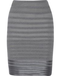 Halston Heritage Striped Wool-blend Skirt - Lyst