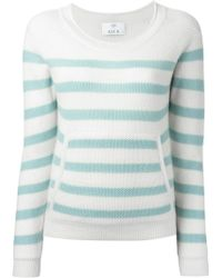 Allude Striped Sweater - Lyst