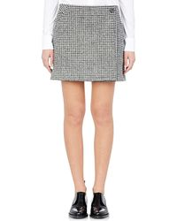 Paco Rabanne Wrap-Front Miniskirt gray - Lyst
