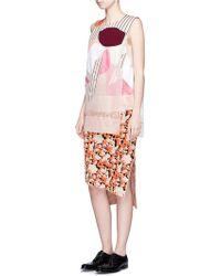 Acne | 'jami Flower' Splatter Floral Jacquard Knit Skirt | Lyst