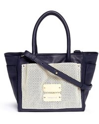 See By Chloé 'Nellie' Small Perforated Front Leather Tote - Lyst