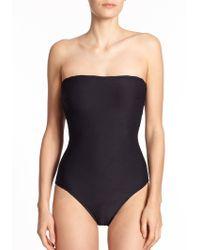 Gottex One-Piece Bandeau Swimsuit - Lyst