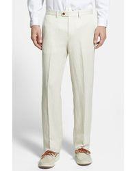 Tommy Bahama 'La Jolla' Flat Front Pants beige - Lyst