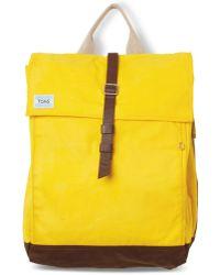TOMS - Citrus Waxed Canvas Trekker Backpack - Lyst