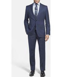 Boss by Hugo Boss Men'S Big & Tall 'James/Sharp' Trim Fit Herringbone Suit - Lyst