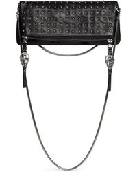Thomas Wylde Skull Stud Flap Front Leather Bag - Lyst