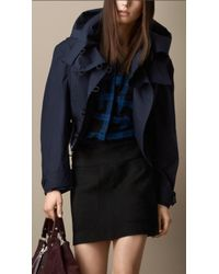 Burberry Cropped Waxed Cotton Parka - Lyst