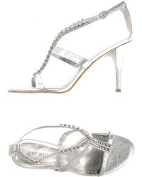 Nine West Sandals silver - Lyst
