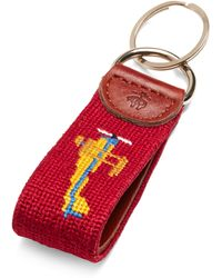 Brooks Brothers Airplane Needle Point Key Fob - Lyst