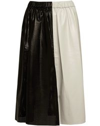 Proenza Schouler Mid Length Paper Leather Skirt - Lyst