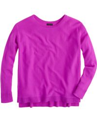 J.Crew Collection Cashmere Textured-Frame Sweater - Lyst