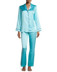 Christine - Classic Silk Pajama Set - Lyst