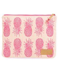 Alola - Pineapple Print Canvas Clutch - Lyst