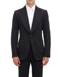 Comme Des Garçons Deconstructed Camouflage-pattern Jacquard Sportcoat - Lyst