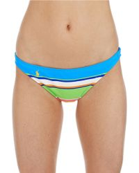 Ralph Lauren Blue Label Bold Stripe Hipster Swim Bottoms - Lyst