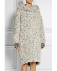 Stella McCartney Hooded Mohair and Woolblend Bouclé Coat - Lyst