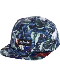 River Island Blue New Love Club Tropical Print Hat - Lyst