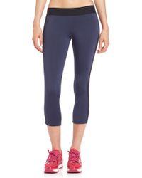 Heroine Sport Side-Stripe Capri Leggings blue - Lyst