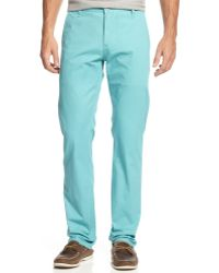 Dockers Tapered Fit Lightweight Alpha Khaki Flat Front - Lyst