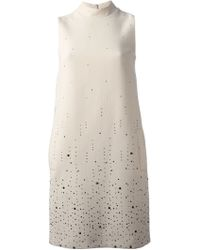 Christopher Kane Embellished Crepe Dress - Lyst