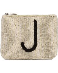 Akira Black Label - Letter J & Heart Seed Bead Zip Wallet - Lyst