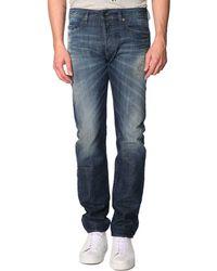 Diesel Buster Slim-Fit Vintage Worn Blue Jeans - Lyst