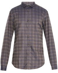 John Varvatos Pencil Checked Cotton Shirt - Lyst