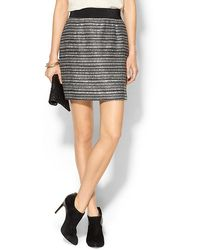 Milly Striped Back Zip Bell Skirt - Lyst