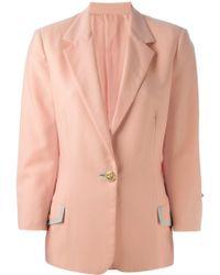 Versace One Button Blazer - Lyst