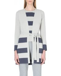 Max Mara Astice Striped Knitted Cardigan - Lyst