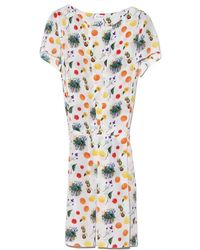 Suno Fruit Box Pleat Dress - Lyst
