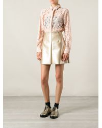 MSGM Lace Shirt - Lyst