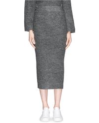 Elizabeth and James 'Eliza' Stretch Bouclé Knit Pencil Midi Skirt gray - Lyst
